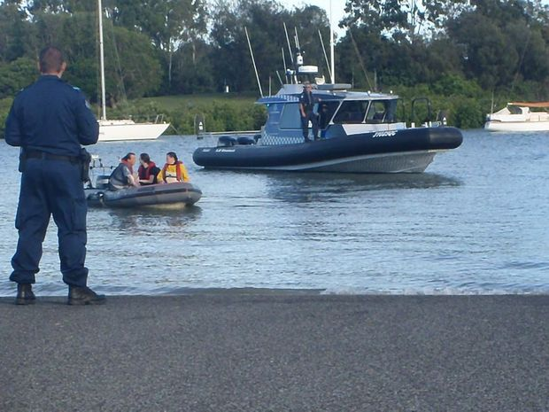 Greenpeace Australia Pacific protestors bought in by water police.