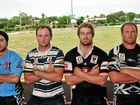 Isis Devils' Simon Ricciardi, Brothers' Joshua Anderson, Wests Panthers' Leon Baldry and Easts Magpies' AJ Evans prepare to do battle in 2012.
