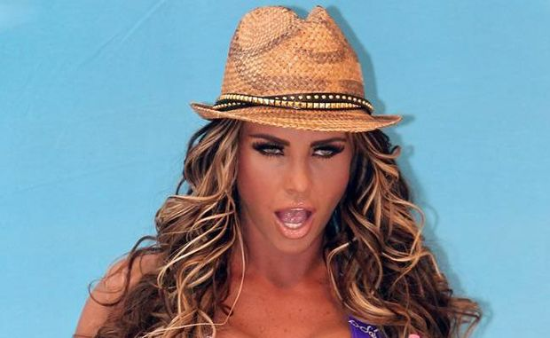 Katie Price at her swimwear launch.