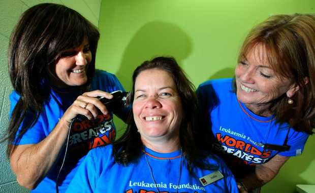Mary-Anne Moore, Jodie Smith and Sue Melville will be shaving for a cure at Kingscliff's NAB.