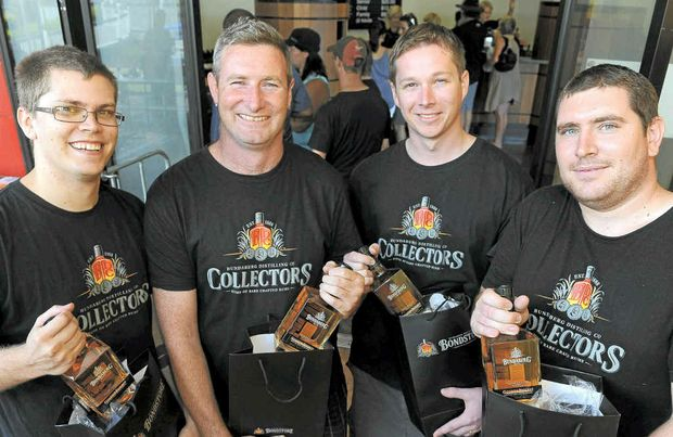 Bundaberg Rum Collectors members like Shane Degier, Michael Knight, Ben Prince and Craig Wright travelled by hook or crook to get to the launch, some from as far away as Sydney.