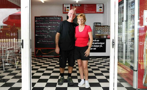 Trevor Mulligan and partner Wendy Hambly opened their Pot Belly Pies shop in Queen St, Grafton, last Wednesday and have sold more than 1000 pies in 3.5 days trade.