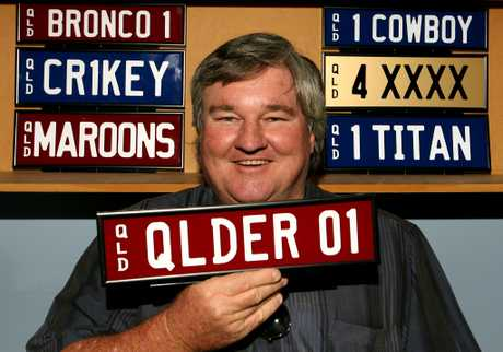 Geoff Maynard is renting out his collection of some of Queensland's most sought-after personalised plates.
