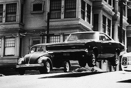The famous car chase from the 1968 Steve McQueen film Bullitt. Steve McQueen's famous dash around San Francisco streets will be recreated for the popular TV series Alcatraz.