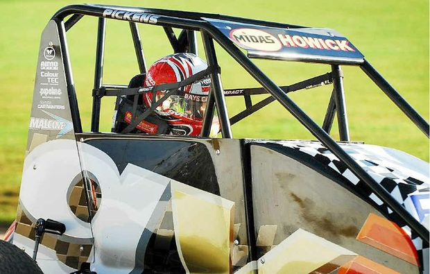 Current New Zealand Speedcar champion Michael Pickens will be one of the quality drivers track at Maryborough Speedway this weekend.