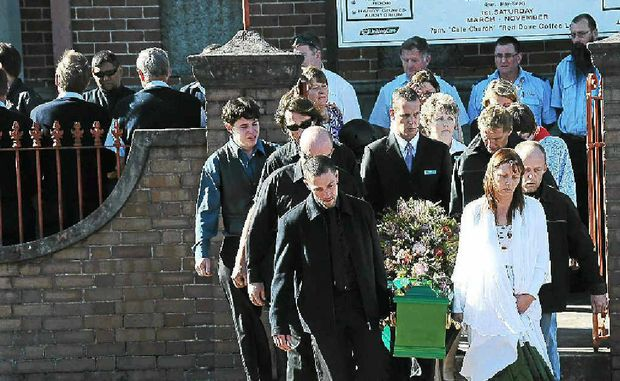 The funeral of Alex Wildman in Lismore 2008.