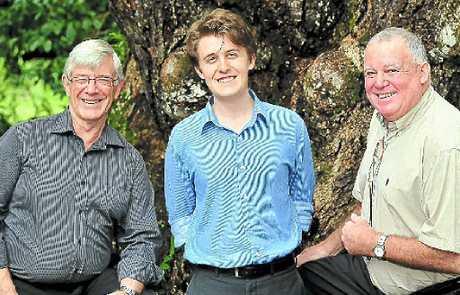 Greens candidate Jim McDonald, Labor's Kurt Hopkins and Katter's Australian Par