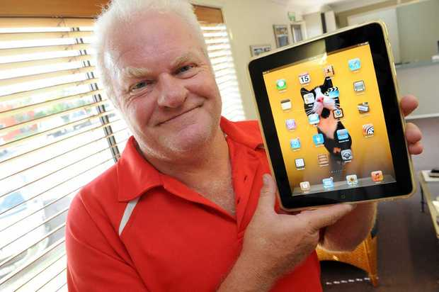Ascot Homes building designer Bruce Cairns is keen to upgrade his Apple iPad when the new product hits Bundaberg shelves.
