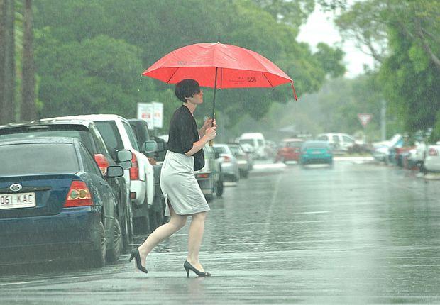 Rain causes road closures in Mackay.