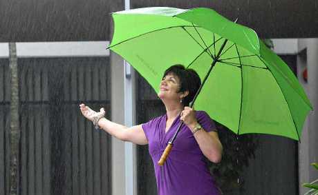 Pauline Townsend won't let a drop of rain stop her.