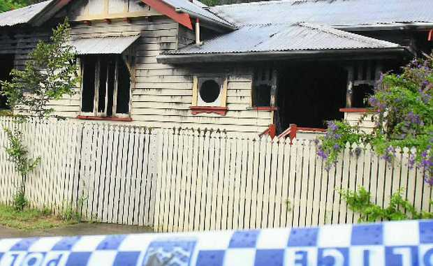 Fire gutted this Barry St house that was being renovated after being damaged in last year's flood.