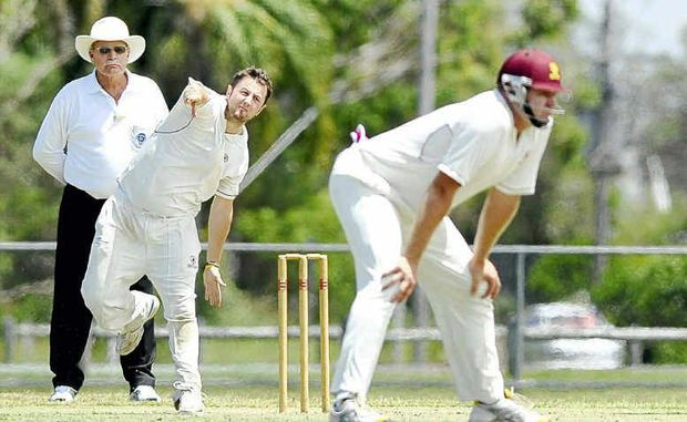 Tintenbar-East Ballina spinner Mark Hoare (pictured bowling) played down his good form this season with the ball.
