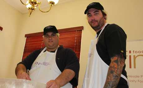 CHEESY LESSONS: Monto teachers Andrew Wallis and Josh Cleary returned from Brisbane this week after learning the skill of making cheese.