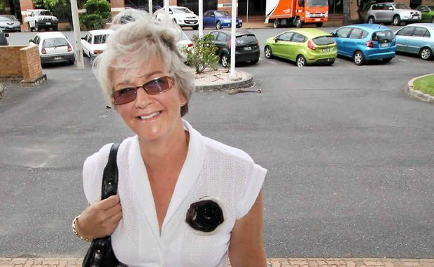 COMEBACK PLAN: Margaret Strelow makes her way into Rockhampton City Hall to address councillors last year. If rumours are true she will declare her intention to run for mayor on Monday.