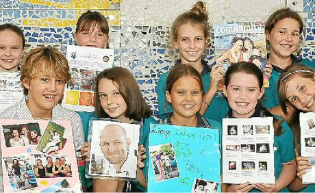 Noosaville State School students Rhian Cruice, Laney Wright, Morgan Cruice, Talitha Weller, Isobel Chegwyn, (front) Millie Hamlin, Megan Stoner, Tiana Brownigg and Ashlee Green will be a part of a fundrai