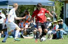 Soccer played at Korora. Northern Storm vs Coffs United.