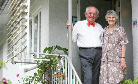 Kev and Enid Peters celebrate their 60th wedding anniversary.