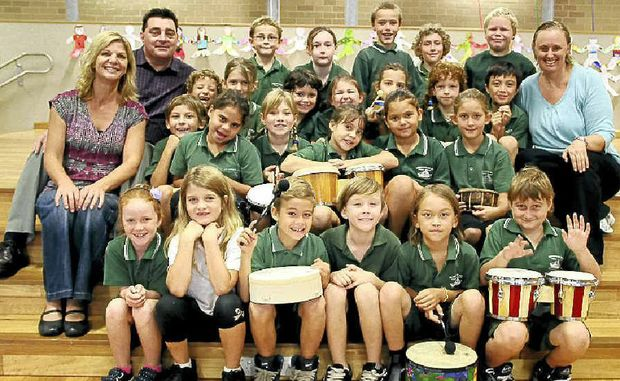 BLUESFEST BOUND: The students from Brunswick Heads Public School who will be performing on stage at this year's Bluesfest.