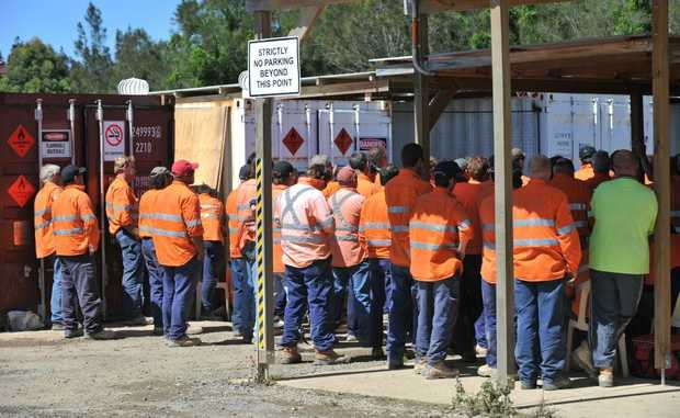 Leighton workers on the Sapphire to Woolgoolga Pacific Highway upgrade stopped work on Thursday over safety concerns highlighted by the CFMEU.
