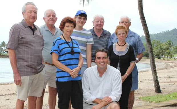 "SUPPORT: Newly elected Whitsunday MP Jason Costigan with John Atkinson, Jack and Diane Dobbins, Cian Middleton, Col Howes and Eunice and Wally Gray, who supported the ""can-do"" candidate throughout his campaign."