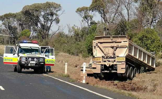 Yet another truck crash on the Peak Downs Hwy, about 50km from Moranbah. Hundreds of people have been injured in crashes.