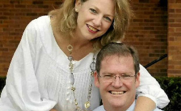 NEW STAR: Anita McVeigh is proud of husband John who yesterday was rewarded with a spot in Campbell Newman's Cabinet.