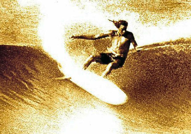 Michael Peterson performing a cutback that became one of, if not the, most famous, as featured at Kirra in the movie Morning of the Earth.