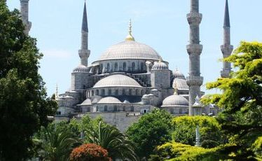 The Blue Mosque is visible from most vantage points across Istanbul.