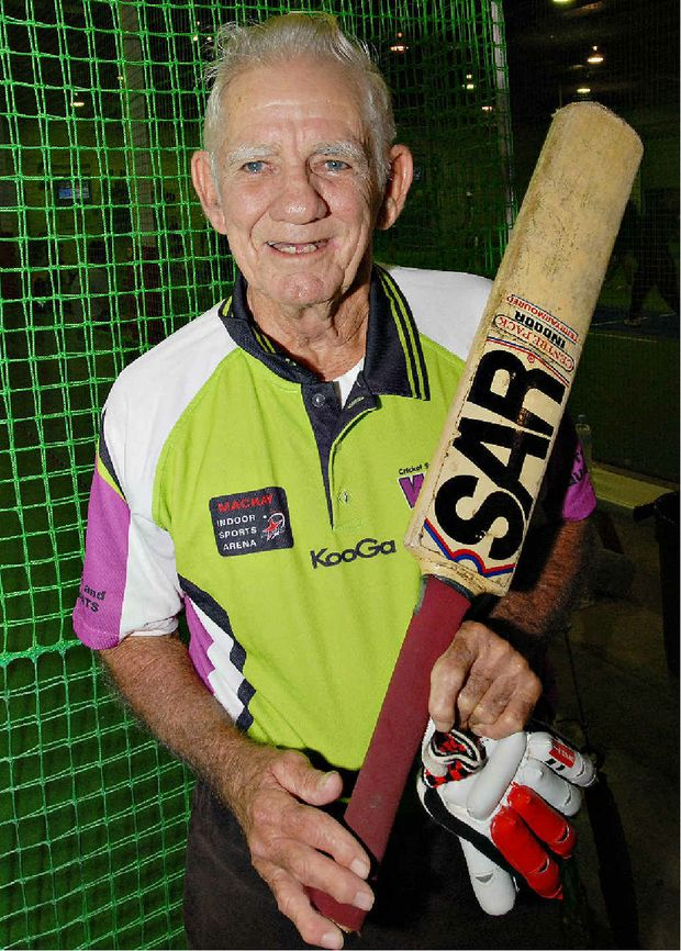 Veteran indoor cricketer Wally Anderson might be 78, but he can still match it with players a lot younger than him.