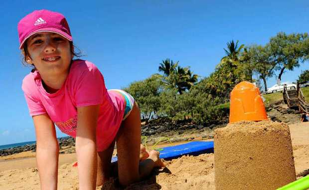 Simone Stevens enjoys the sunny weather on Kelly's Beach with more beautiful days predicted over Easter.