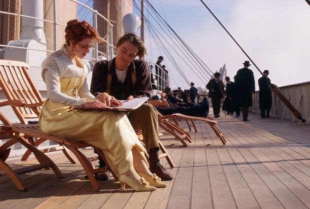 Leonardo DiCaprio and Kate Winslet in a scene from the movie Titanic, which is being re-released in 3D.