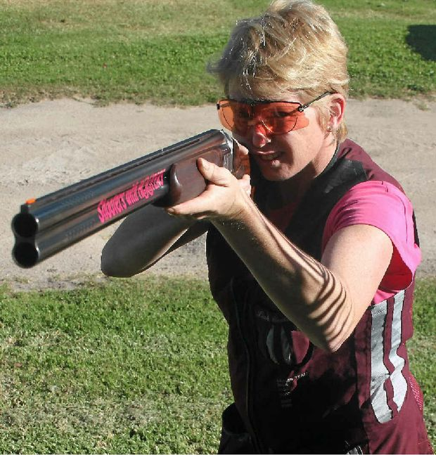 SHARP SHOOTER: Leah Costanzo is ranked amongst Australia's top five female Down the Line clay target shooters.