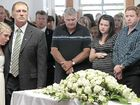 Tears and applause at funeral