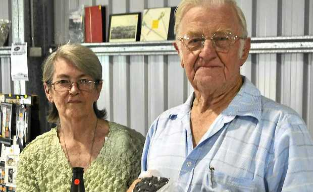 Dawn Hole and Syd Woodrow team up to promote antiques, collectables, rocks and minerals at this year's Rock Swap at the weekend.