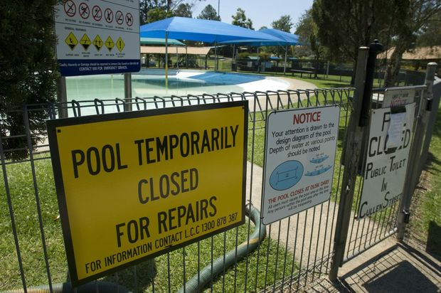 Nimbin Pool, shown here in 2011, has been closed after a hole was found in the base.