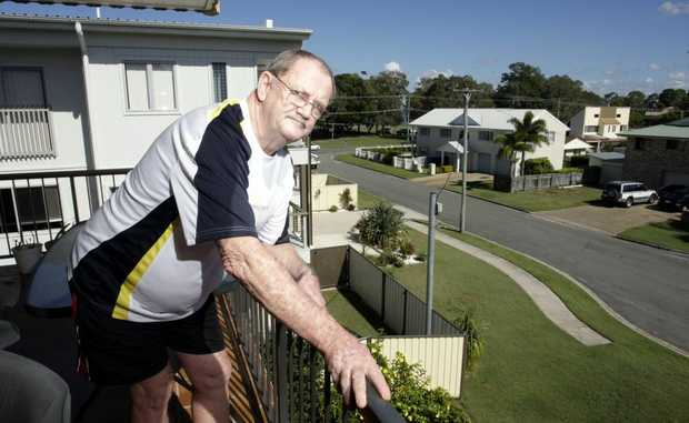 Alan Trewin is concerned about the lack of reception his area is recieving for their televisions. Photo Vicki Wood / Caboolture News