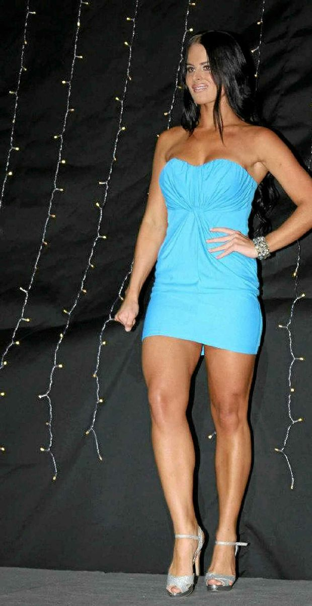 Former Rocky woman Tahnee Chapman, 25, has accused a jealous and spiteful Paris Hilton for getting her ousted from her dream job. This image shows Tahnee at a competition in Rockhampton.