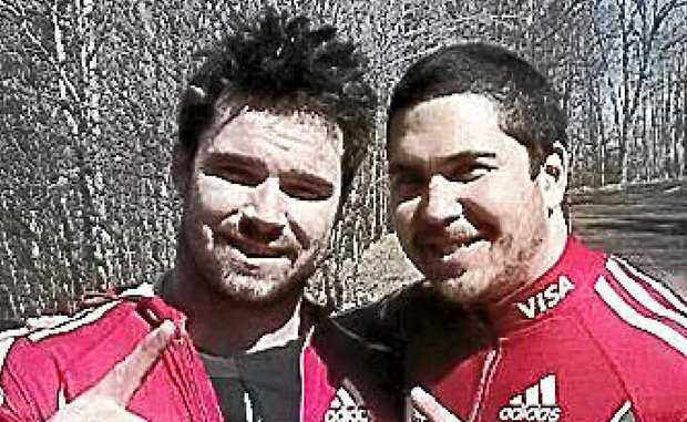 Former Coast- based bobsleigh pilot Chris Spring, right, with teammate Tim Randall.