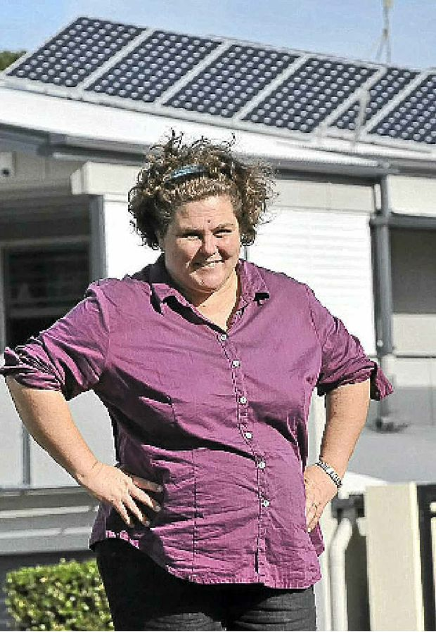GREAT RESULT: Liza Neil sees solar success story.