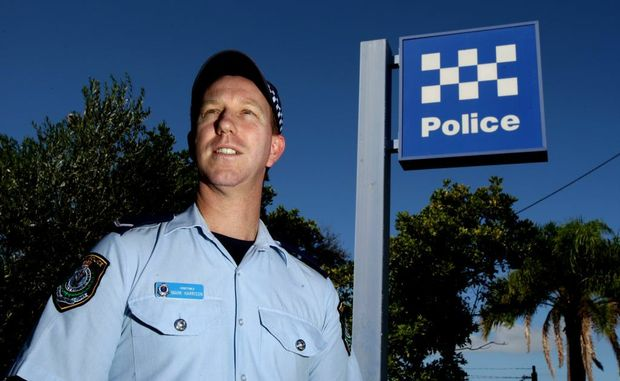 Constable Mark Harrison at Tweed Police station.
