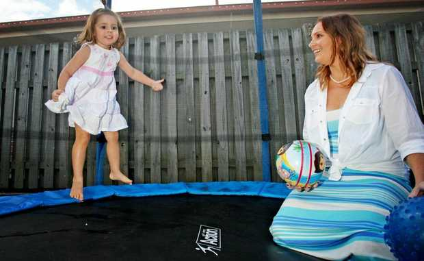 Bree Clifton with three-year-old Ellashae who has autism.