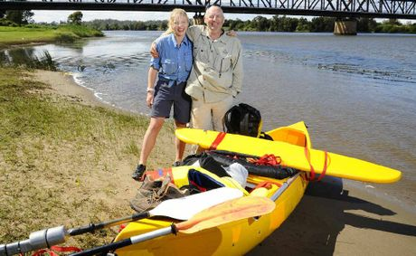 Charlese and Paul Conolly, of Tweed Heads, on a break near the Grafton Bridge in their travels from Tabulam to Iluka.