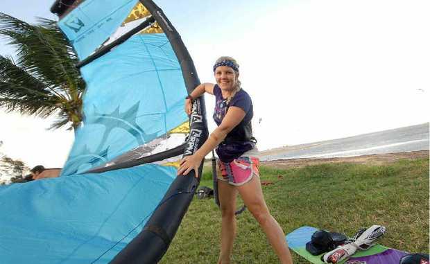 Kiteboarder Melissa Millen.