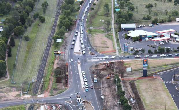 The intersection of Codenwarra Rd, the Capricorn Hwy and Gregory Hwy, along with the nearby rail crossing continues to cause headaches for residents.