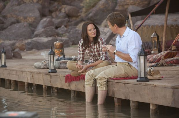 Emily Blunt and Ewan McGregor in a scene from the movie Salmon Fishing in the Yemen.