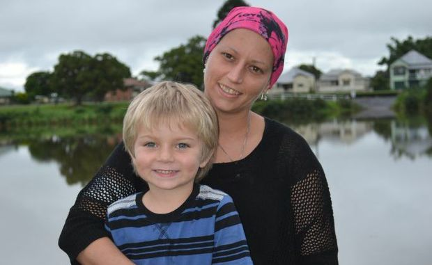 LOOKING FORWARD: Kayla Clapham of Woodburn with her son Drew, 5 has an aggressive form of leukaemia which she is fighting thanks to the support of her family and the Woodburn community. Photo Samantha Elley / Rivertown Times