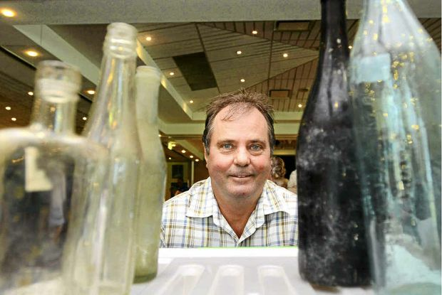 Maclean bottle collector Tim Shearman was at the Quota Lower Clarence Antique and Collectables Fair at the Yamba Bowling Club on Saturday.