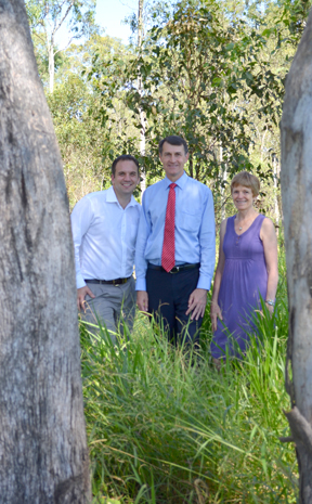 Lord Mayor Graham Quirk with Jamboree councillor Mathew Bourke and CDEA president Shealagh Walker.
