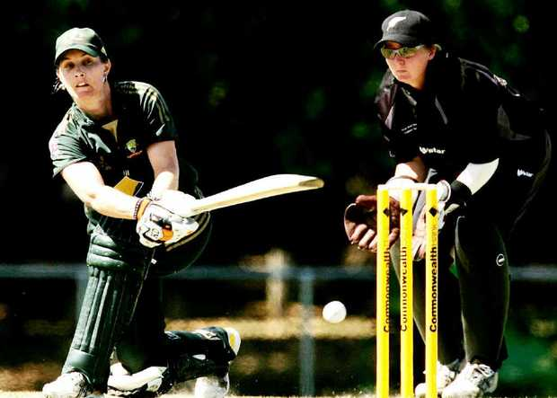Ipswich product Melissa Bulow sweeps during her previous stint representing Australia in 2007.