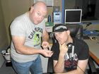 Dave Peters and Jason Shipston from Sea FM with the mysterious ring which they are trying to trace to the owner.